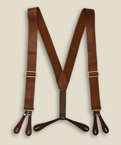 Any type of suspenders are fun. Zoom: Kika NY - Leather Suspenders - Tan