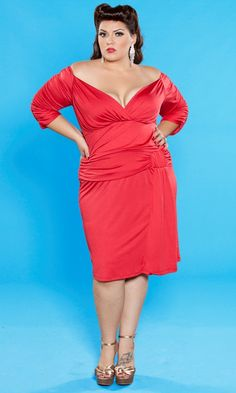 The Mae Dress in Red is the ultimate in seductive, yet classic glamour. From the SWAK Designs Curvy Kitten Collection. Out of stock for now...