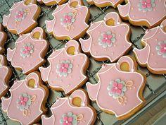 Pretty Tea Pot Cookies, by Polka Dot Cookies ~ inspiration
