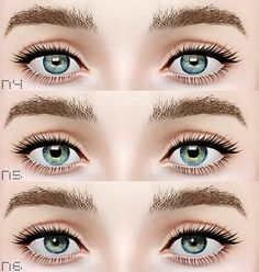 New Contacts by Eruwen Sims 3, The Sims, Sims 4 Cc Makeup, Demon Drawings, Ts4 Cc, Poses, Content, Blog, Life