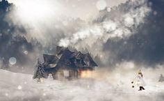 Winter, Wintry, Girl, Female, Snow