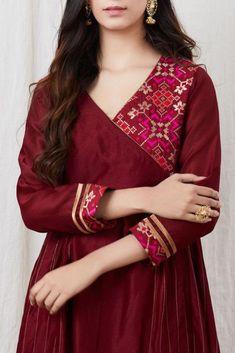 Salwar Neck Designs, Neckline Designs, Kurta Neck Design, Dress Neck Designs, Kurta Designs Women, Stylish Dress Designs, Blouse Designs, Kurti Sleeves Design, Sleeves Designs For Dresses