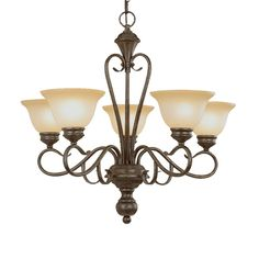 Shop Millennium Lighting Devonshire 5-Light Burnished Gold Chandelier at Lowes.com
