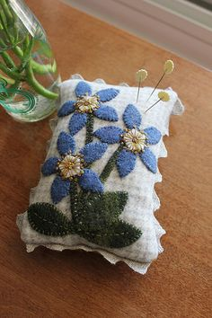 Forget-Me-Not Pincushion FREE Pattern