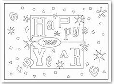 These fun New Years coloring pages feature a variety of cute designs, and can keep your creative little ones busy for hours!