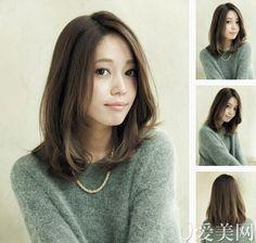 26 ideas for hair cuts korean haircuts shoulder length Mid Length Hair, Shoulder Length Hair, Hairstyles Haircuts, Pretty Hairstyles, Medium Hair Styles, Short Hair Styles, Hair Arrange, Love Hair, Hair Looks