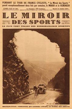 Tour de France 1927. 17^Tappa, 9 luglio. Briançon > Évian. Tunnel des Arravis. Pé Verhaegen (1902-1958)