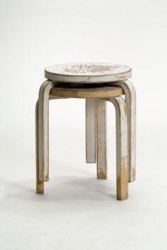 """Second Cycle"" by Artek- Alvar Aalto stools"