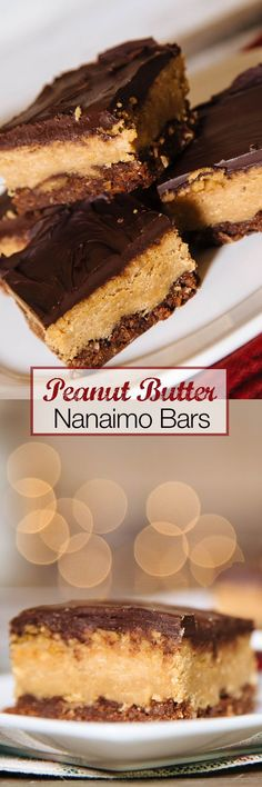 These Vegan Peanut Butter Nanaimo Bars make a decadent and festive treat for the holidays. The peanut butter is a lovely replacement for custard usually found in nanaimo bars.