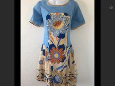 Handmade Medium Dress Petite Blue Floral Peasant BOHO #Handmade #PLEATEDboho #Casual
