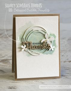 By Teneale Williams | Global Design Project, Case the Design Challenge | Stampin' Up! Swirly Scribbles Thinlits and Botanical Builder Framelits