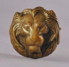 Great Antique Victorian Brass hatpin with Lion   eBay