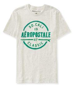 Confira nova coleção Aeropostale!  Camiseta Aeropostale Masculina CALI CLASSIC - Cinza - FigoVerde.com.br