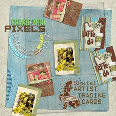 I just really like this and I love the idea of artist trading cards.