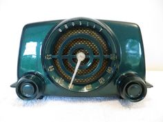Vintage 1940s Art Deco Mid Century Crosley Bakelite Radio Amp Quality Restoration | eBay