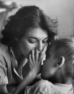 Anne Bancroft, 1959, at a school for the blind, preparing for her role in The Miracle Worker