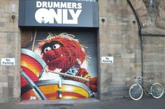 Global Street Art • Where are the drummers? Muppet themed artwork by...
