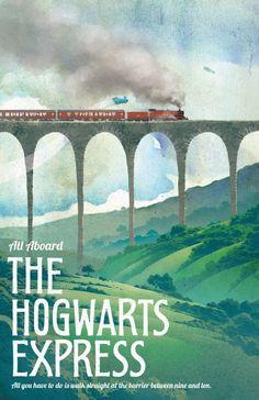 Harry Potter The Hogwarts Express Kraft Paper Poster Home Decor Wall Sticker