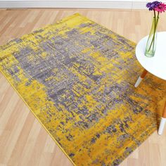 Revive Rugs in Ochre buy online from the rug seller uk Rug Decor, Color Palette Living Room, Dining Room Colour Schemes, Rugs, Rugs In Living Room, Colorful Interiors, Ochre, Neutral Living Room, Dining Room Colors