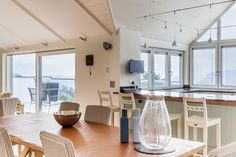 new salcombe coastal home open plan living space