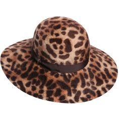 BORSALINO Leopard Rabbit Fur Melusine Felt Hat ( 339) ❤ liked on Polyvore  featuring accessories. MilanoPolyvoreCappelliAccessori 9902d3700753
