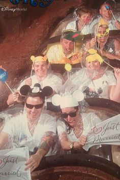 WDW...son & wife's wedding :) Splash Mountain..loved our props so much, they gave the bride & groom the pic..we had so much fun w/props! 12/3/12..
