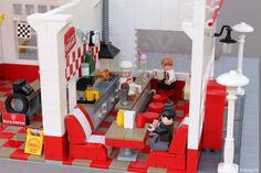 Fill 'er up! My latest build is a jump into the glory days of gas stations, when full service and free oil changes were the rule and the local station wa...