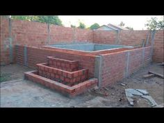 Construindo piscina de alvenaria passo a passo vídeo 2. - YouTube Backyard Pool Designs, Small Backyard Pools, Small Pools, Swimming Pools Backyard, Swimming Pool Designs, Pool Landscaping, Outdoor Garden Rooms, Outdoor Garden Lighting, Jacuzzi Outdoor