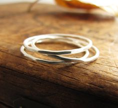 Silver Stack Ring. Midi Ring. Thin Silver by sundownbeaddesigns, $14.00