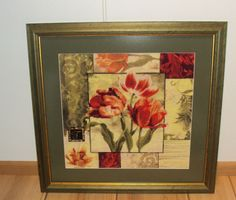 Finished Cross Stitch Piece Framed Tulips Medley (Kustom Krafts). on 18 count Aida fabric (50176 cross stitches). This item is sold in good condition its dimensions are 45 cm x 45 cm. Stitching area is 30 x 30 cm. | eBay!