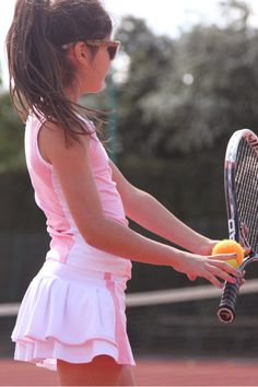 Girls Tennis Skirt and Vest Outfit Ruffle A-Line Tennis Skirt with Slimline Tank Top Girls Tennis Clothes