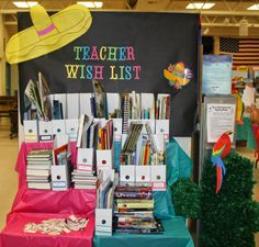 Teacher Wish List - http://lalasworldblog.blogspot.com/2014/05/fiesta-book-fair-fun.html