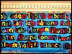 """""""What's In A Name..."""" Colorful Back-to-School Bulletin Board Idea"""
