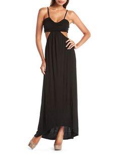 Open Back Knit Maxi Dress: Charlotte Russe