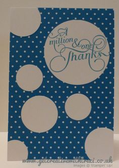 Stampin Up Circle Punch and Million & One Pacific Blue Card by Independent Stampin Up Demonstrator Traci Cornelius www.getcreativewithtraci.co.uk