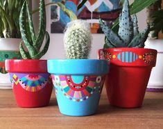 Pot de fleurs pour cactus | Etsy