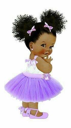New Baby Shower Ides Purple Kids Ideas Art Black Love, Black Girl Art, Black Girl Magic, Art Girl, Clipart Baby, Baby Clip Art, Baby Art, African American Art, African Art