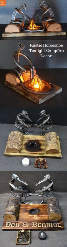 The Horseshoe feel and the tealight campfire feel would be a perfect addition to my rustic decor!