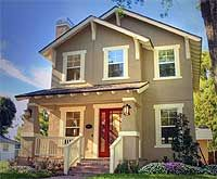 Arts and crafts arts and crafts house and craft house on for Award winning narrow lot house plans