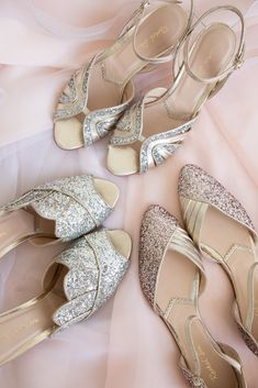 Rachel Simpson Party Collection 2020 Winter Wedding Shoes, Gold Wedding Shoes, Designer Wedding Shoes, Bridal Shoes, Glitter Party, Glitter Wedding, Gold Leather, Leather Heels, Simpsons Party