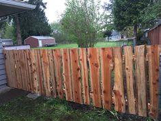Rustic wood fence