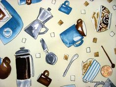 Fabric Coffee and related items Timeless by DesignsByDona on Etsy, $4.25