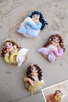mermaids on shells by LisaCreations by ~LisaCreations on deviantART
