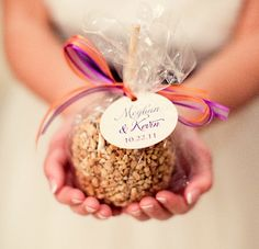 Toffee apple favours