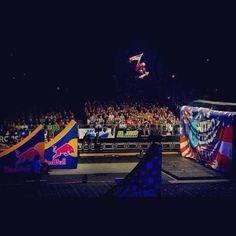 Nixon: Lyn-z Adams Hawkins Pastrana sending one for the USA at Nitro Circus Live Europe