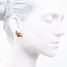 stud gold #jewelry #jewellery #gold