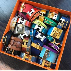 #Hermes #bracelets A whole box full? Yes, please!