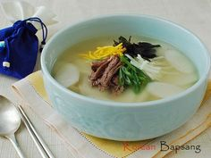 Tteokguk (Rice Cake Soup) | Korean Food Gallery – Discover Korean Food Recipes and Inspiring Food Photos