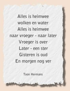 Toon Hermans Wish Quotes, True Quotes, Funny Quotes, Poetry Quotes, Words Quotes, Sayings, Dutch Words, Dutch Quotes, Verse