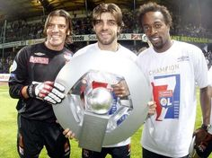 Grégory Coupet, Juninho et Sidney Govou